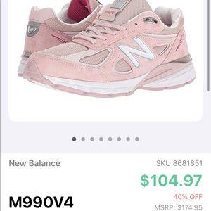 New Balance 990 v4 PINK Breast Cancer 990v4